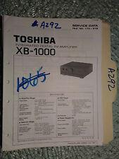Toshiba xb-1000 service manual original repair book stereo av amp amplifier