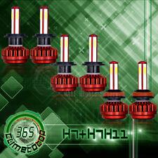 High Low Beam+ Fog Light H7+H7+H11 Combo LED Headlight Bulbs Kit High Power