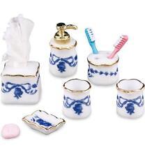 Dollhouse Blue Rose Bath Accessories Reutter 17648  Miniature gemjane 2016