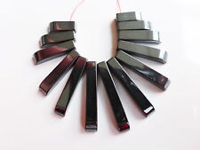 1 x noir hématite Ventilateur de perles 10mm-27mm x 4 mm Collier gemstone (gb1070)