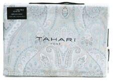 Tahari King Duvet Cover Set Medallion Floral 3pc Cotton Grey Blush Silver
