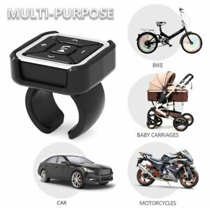 Car Wireless Bluetooth MP3 Media Remote Control Button Steering Wheel Bike Mount