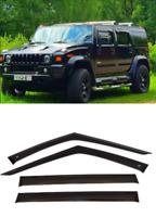 For Hummer H2 2002-2009 Window Side Visors Sun Rain Guard Vent Deflectors