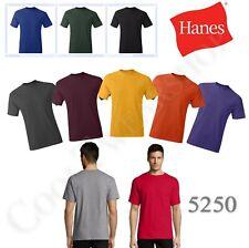 Hanes Comfortsoft Men's Plain Crewneck Short Sleeves Tagless T Shirt 5250