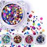Nagel Kunst Glitter Schimmer Farbig Flitter Paillette Deko Ultrathin DIY