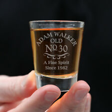 1-100 Bulk Birthday Personalised Engraved Shot Glasses Favours Gift Box Present