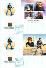 George Michael In Memoriam Music Madagascar first day covers FDC set
