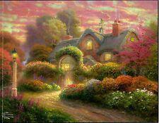 "Thomas Kinkade ""Rosebud Cottage"" Boxless Puzzle Floral Flower Colorful *NEW*"