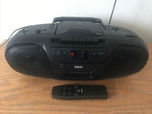 RCA Cassette CD AM/FM Radio Portable Boombox RP-7942A With Remote Tested Workin