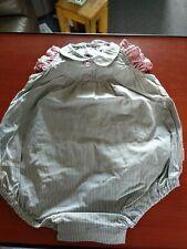 Pasito a Pasito girl grey stripe romper suit. Age 6 months