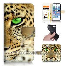 ( For iPod Touch 6 ) Wallet Flip Case Cover AJ40796 Leopard