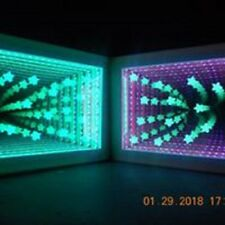 "LED ""Glowing Stars"" Infinity Mirror Dimensional Illuminations"