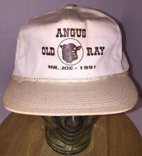 Vtg Angus Old Ray Mr. Joe 1991 Farming Hat Cap Zipperback Maydale 90s Distressed