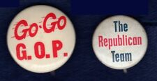 GOP GRAND OLD PARTY REPUBLICAN POLITICAL ELECTION CAMPAIGN PINBACKS BUTTONS