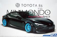 KIT TOYOTA 86 GT 2016 WITH CUSTOM WHEELS LHD + RHD 1/24 AOSHIMA 05179 051795