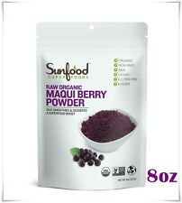 ORGANIG MAQUI BERRY POWDER  SUPERFOOD BOOST 8oz SUNFOOD #004