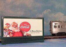 COCA-COLA SANTA CLAUS MODEL RAILROAD LIGHTED BILLBOARD AD for A/F, LIONEL TRAINS