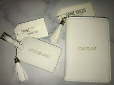 Shine Bright PU Passport Cover with Tassel and Matching Luggage Tag