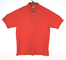 Adidas Golf Climalite Shirt Short Sleeve Red Size M Mens (160)