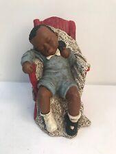 All God's Children Garrett 1993 Martha Holcombe Figurine #50 Sleeping Boy Shoe