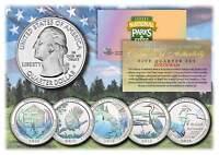 2015 America The Beautiful HOLOGRAM Quarters U.S. Parks 5-Coin Set w/Capsules