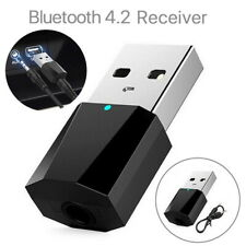 Wireless USB Bluetooth 4.2 Audio Music Adapter Receiver Dongle For Car Home