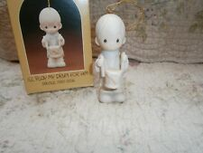 Precious Moments Ornament I'll Play My Drum For Him 1982 Drummer Boy