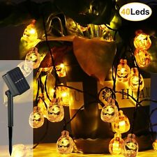 Halloween Decor Pumpkin String Lights, Solar String Light, 20ft 30 LED Outdoor