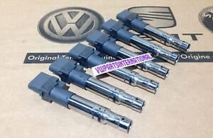 Genuine Ignition Coil Packs R32 3.2 6x Golf MK4 MK5 Phaeton T5 A3 S3 TT TTS Q7