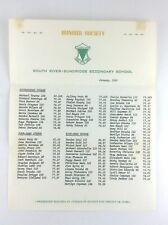 Honour Society South River Sundridge Secondary School 1969 Courses K814