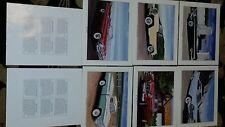 Chrysler Promotional frame quality prints. Set of 6 Mopar Willys dodge plymouth