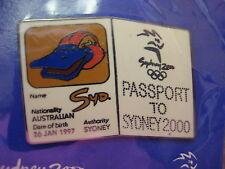 Sydney 2000 Olympic Mascot Passport Pin, Syd
