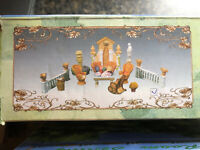 "Popular Imports 1996 Beauville Miniature Doll House Furniture ""Secret Garden"""