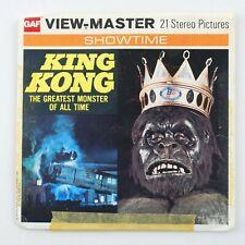 Vintage View-Master 3-Reel Set B392 KING KONG (1976) Jeff Bridges, Jessica Lange