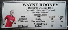 Soccer WAYNE ROONEY picture Silver Sublimated Plaque NEW Free Postage