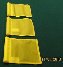"PUTTING GREEN FLAGS -  SET OF 3 YELLOW - SIZE 6""X8"""