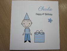Personalised Handmade Boys Birthday Card - 3rd 4th 5th 6th 7th 8th 9th Any Age