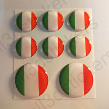 Stickers Italy Gel Domed Resin 3D Flags Italy Vinyl Sticker Decals Helmet Car