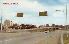 Amarillo Texas~Expressway Highway Signs~US 87 North~US 60 East~1950s Car~PC
