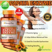 Papaya Enzyme Digestion Constipation Lungs Arthritis Chewable Supplement 750 Tab