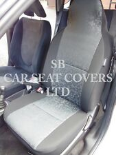 i - TO FIT A SKODA RAPID SPACEBACK CAR, SEAT COVERS, RETRO GREY CLOTH, 2 FRONTS