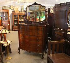 Antique Victorian large Mahogany Hiboy High Boy Chest of Drawers Dresser - Styli