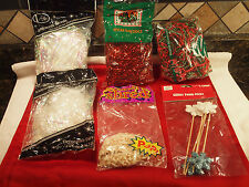 Christmas Holiday Decorative Gift/Basket Filler Mixed Lot-Crafts-new and used