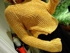 H&M Chunky Crop Mustard Yellow Knit Sweater Jumper New No Tags Size M