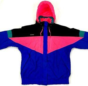 VTG Columbia Ladies Medium 3 In 1 Hooded Coat Multi-Color Snowboard Ski Wizbang