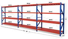 6M x 2M x 0.6M 3600kg Garage Shelving Long Span Steel Warehouse Longspan Storage