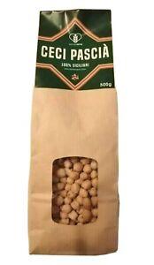 Ceci Pascià 100% Siciliani busta da 500gr Prodotto locale siciliano