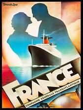 TRAVEL TRANSPORT SHIP LINER OCEAN SEA ATLANTIC FRANCE ART PRINT POSTERBB8504B