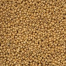 Miyuki 11/0 Seed Beads 11-4202F Duracoat Galvanized Matte Gold 24g (N19/1)