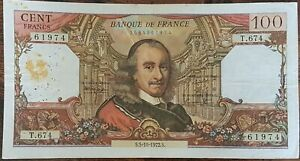 Billet de 100 francs CORNEILLE 5 - 10 - 1972 FRANCE T.674